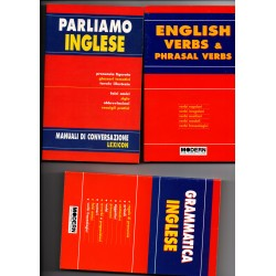 parliamo inglese/grammatica inglese/english verbs and pharas verbs - 3 libri